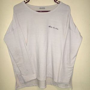 """🔥NEW🔥Zara """"This is Me"""" Long Sleeve Shirt"""